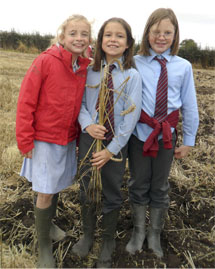 Tibberton School Children with Crop